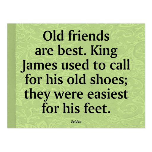 Friendship with Old Friends Postcard