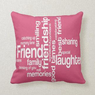 Friendship Word Art Square Pillow