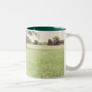 "friendshipmug ""empty"" Two-Tone coffee mug"