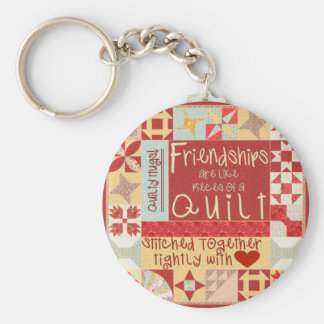 Friendships are like quilts key chains ring
