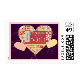 Friendships are like quilts postage stamps