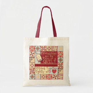 Friendships are like Quilts Tote Tote Bags