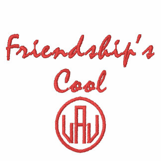 Friendship's Cool Embroidered Ladies Zip Hoodie