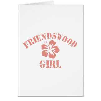 Friendswood Pink Girl Card