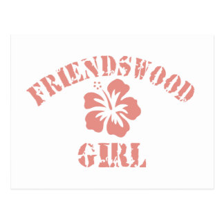 Friendswood Pink Girl Postcard