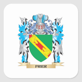 Frier Coat of Arms - Family Crest Square Sticker