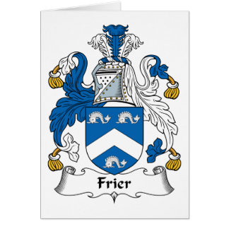 Frier Family Crest Greeting Cards