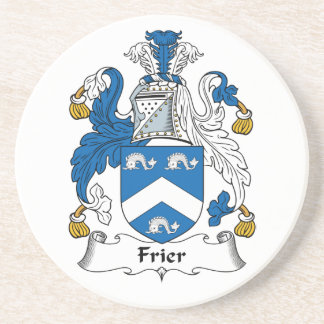 Frier Family Crest Drink Coasters