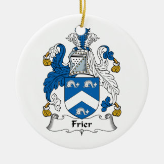 Frier Family Crest Double-Sided Ceramic Round Christmas Ornament