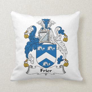 Frier Family Crest Throw Pillow