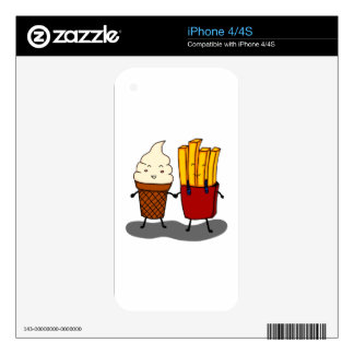Fries and Ice Cream Decal For iPhone 4S