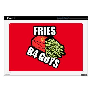 "Fries Before Guys 17"" Laptop Skins"
