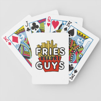 Fries before guys bicycle playing cards