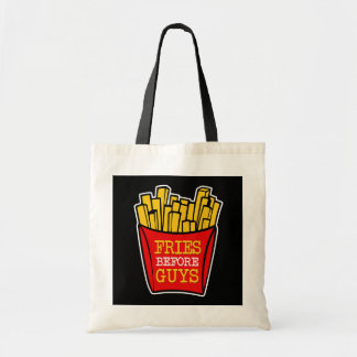 Fries before Guys funny women's bag