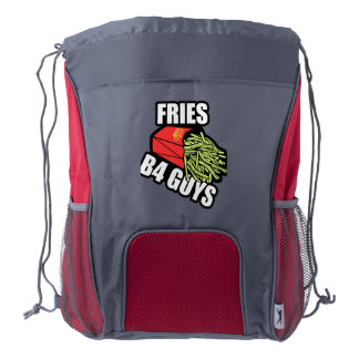 Fries Before Guys Drawstring Backpack