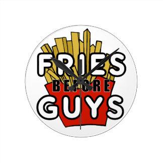 Fries before guys round clock