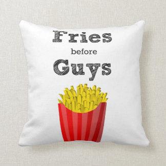 Fries Before Guys Teen Throw Pillow