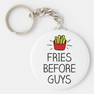 fries before guys with most charming illustration keychain
