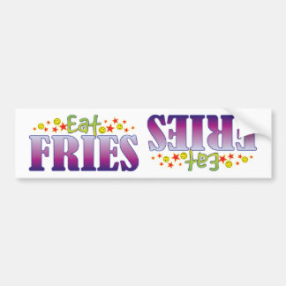 Fries Eat Car Bumper Sticker