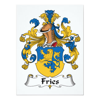 "Fries Family Crest 6.5"" X 8.75"" Invitation Card"