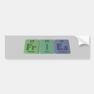 Fries-Fr-I-Es-Francium-Iodine-Einsteinium.png Pegatina De Parachoque