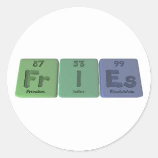 Fries-Fr-I-Es-Francium-Iodine-Einsteinium.png Classic Round Sticker
