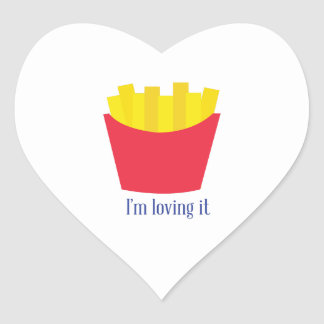 Fries_Im Loving It Heart Sticker