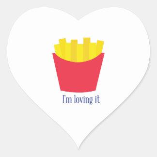 Fries_Im que lo ama Pegatina En Forma De Corazón