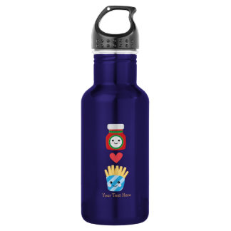Fries & Ketchup (customizable) Stainless Steel Water Bottle
