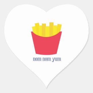 Fries_Nom Nom Yum Heart Sticker
