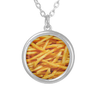 fries round pendant necklace