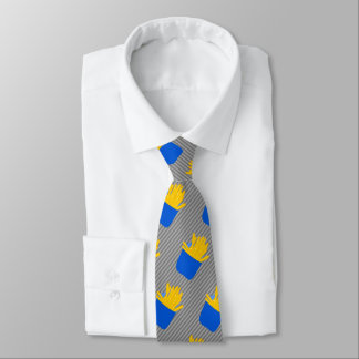 Fries With That? Fast Food Themed Joke Neck Tie