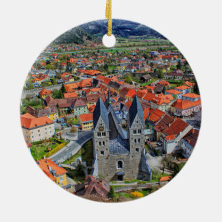 Friesach, Austria Double-Sided Ceramic Round Christmas Ornament