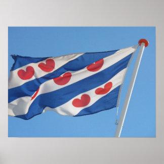 Friese Vlag, Frisian Flag, Fryslan Photo Poster