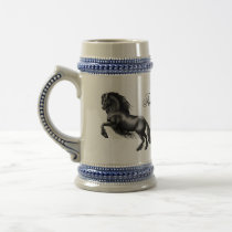 Friesian, black letter beer stein