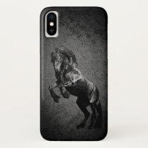 Friesian black stallion, the black beauty, horse iPhone x case
