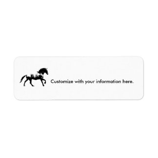 Friesian Cantering Label