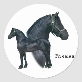 Friesian Classic Round Sticker