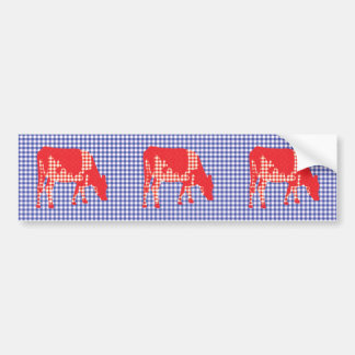 Friesian cow, Friese koe Bumper Sticker
