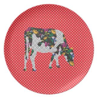 Friesian cow, Friese koe Melamine Plate