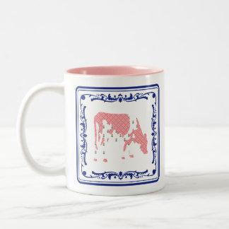 Friesian cow, Friese koe Two-Tone Coffee Mug