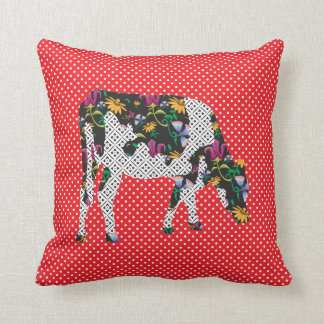Friesian cow, Friese koe Throw Pillow