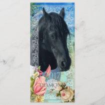 Friesian DIAMOND ~ Calendar Card