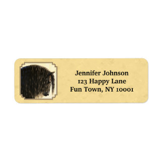 Friesian Draft Horse Yellow Label