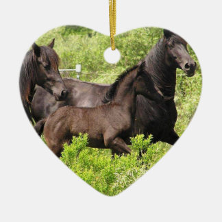 Friesian Filly Ornament