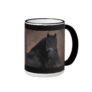 Friesian Flair Ringer Coffee Mug