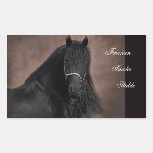 Friesian Flair Rectangular Sticker