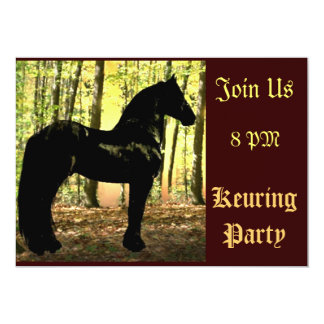 Friesian Forest Keuring Party Card
