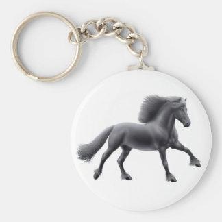 Friesian Galloping Keychain