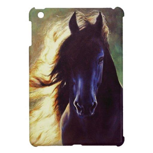 """Friesian Glow"" black stallion beauty horse iPad Mini Case"